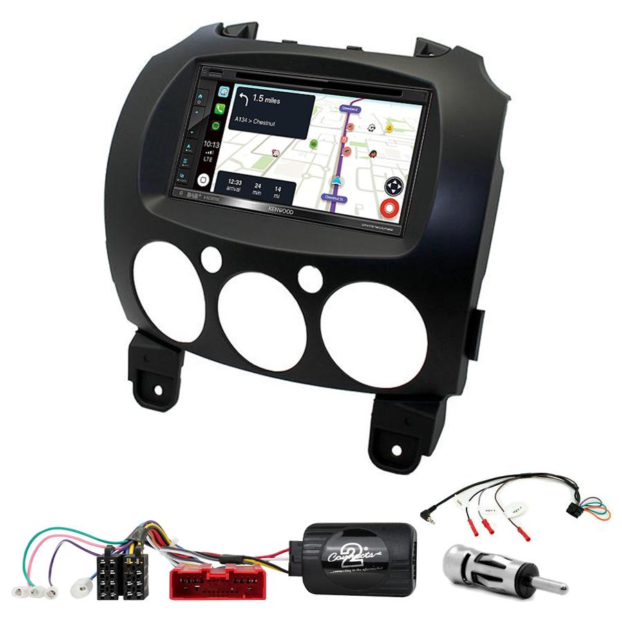 Kit d\'intégration Mazda 2 + Autoradio tactile Navigation GPS