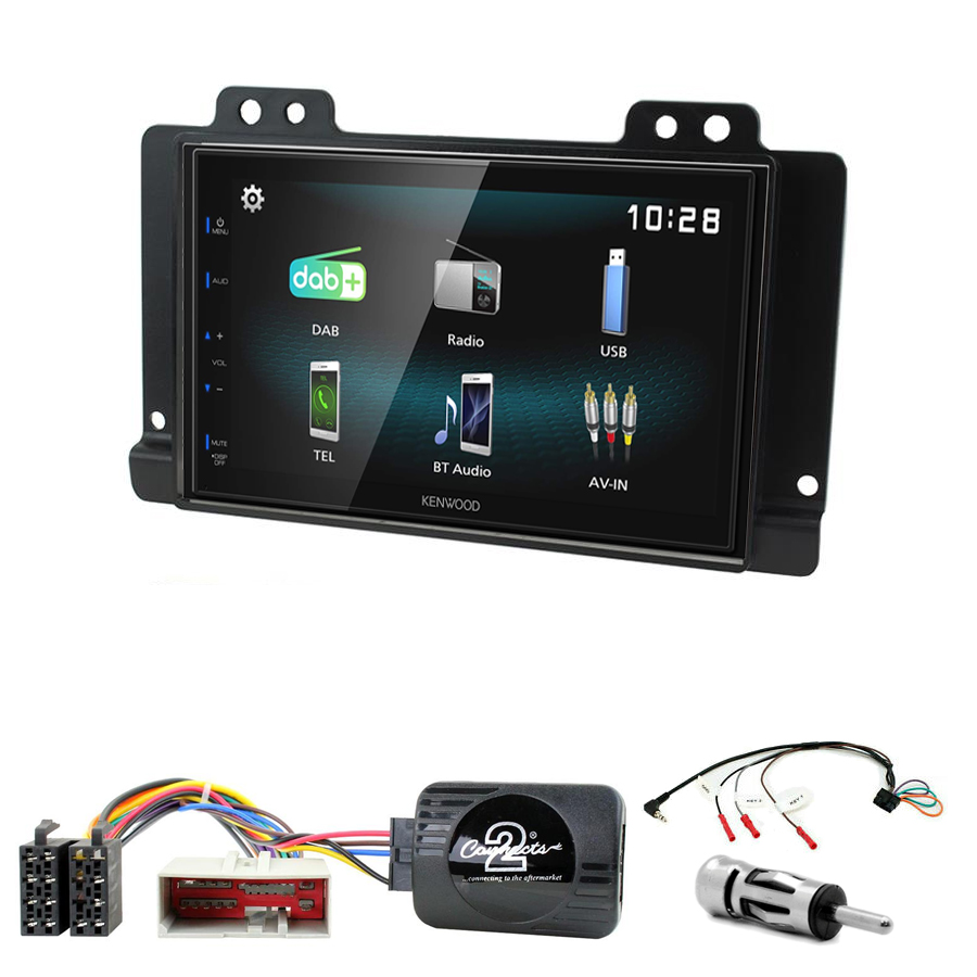 Kit d\'intégration Land Rover Freelander de 2004 à 2006 + Autoradio multimédia à écran tactile