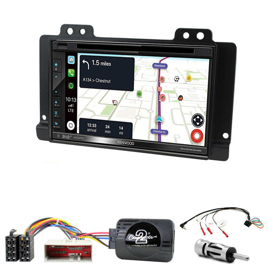 Kit d\'intégration Land Rover Freelander de 2004 à 2006 +Autoradio tactile Navigation GPS