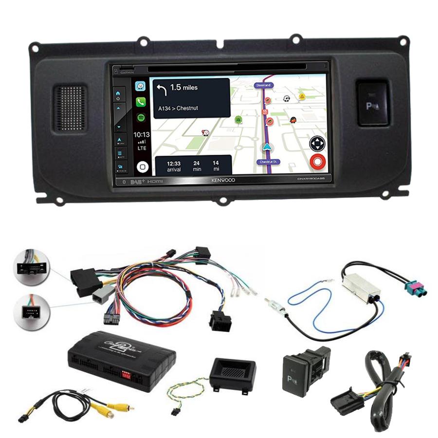 Kit d\'intégration Range Rover Evoque de 2011 à 2015 + Autoradio tactile Navigation GPS
