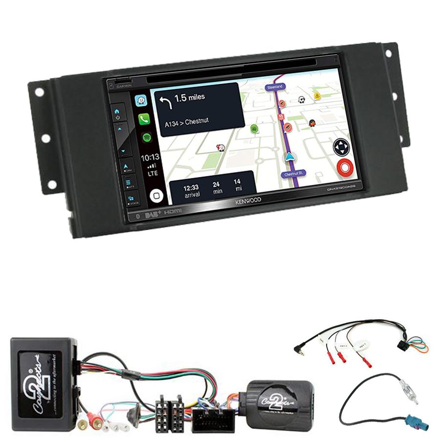 Kit d\'intégration Land Rover Discovery, Freelander et Range Rover Sport + Autoradio tactile Navigation GPS