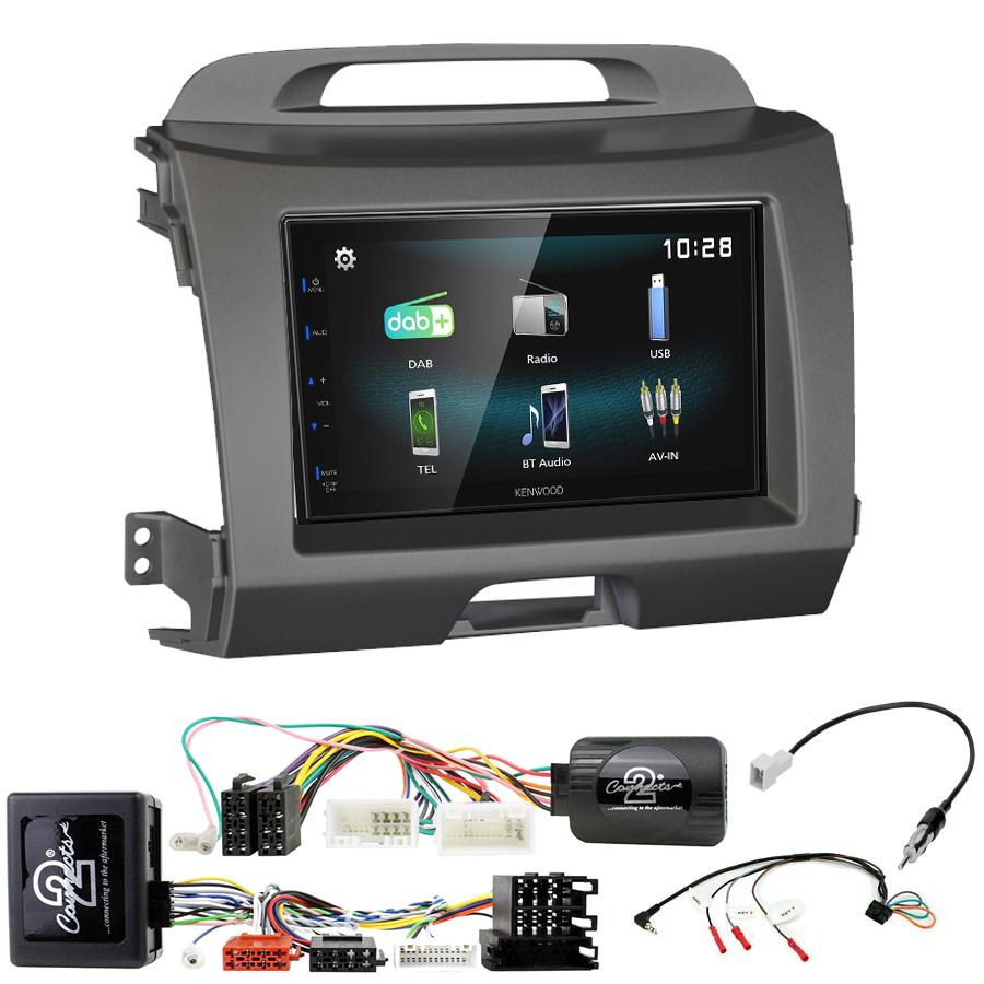 Kit d\'intégration Kia Sportage de 08/2010 à 2015 + Autoradio multimédia à écran tactile