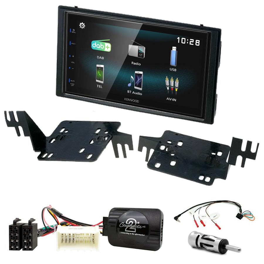 Kit d\'intégration Kia Rio et Sportage de 2005 à 2010 + Autoradio multimédia à écran tactile