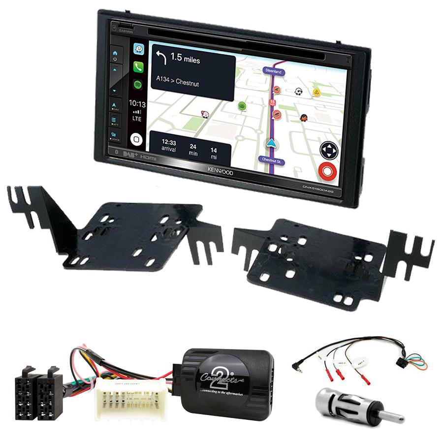 Kit d\'intégration Kia Rio et Sportage de 2005 à 2010 + Autoradio tactile Navigation GPS
