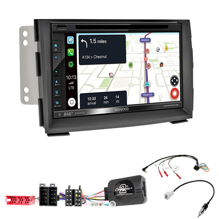 Kit d\'intégration Kia Venga de 2010 à 2015 + Autoradio tactile Navigation GPS