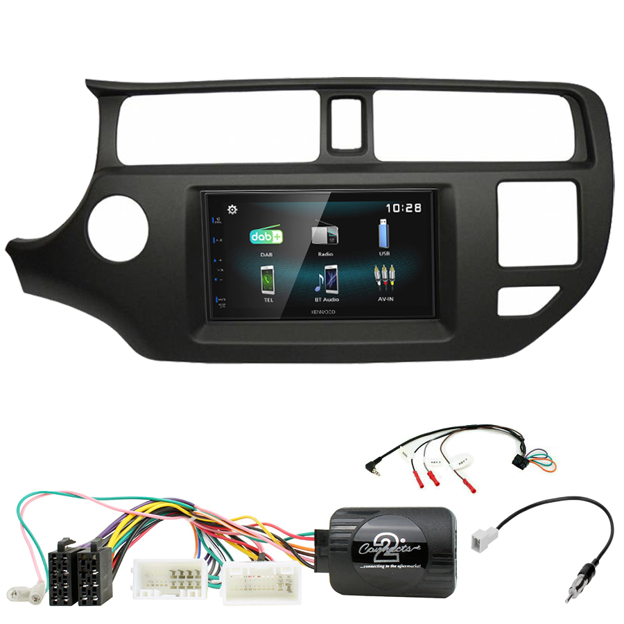 Kit d\'intégration Kia Rio de 9/2011 à 03/2015 + Autoradio multimédia à écran tactile