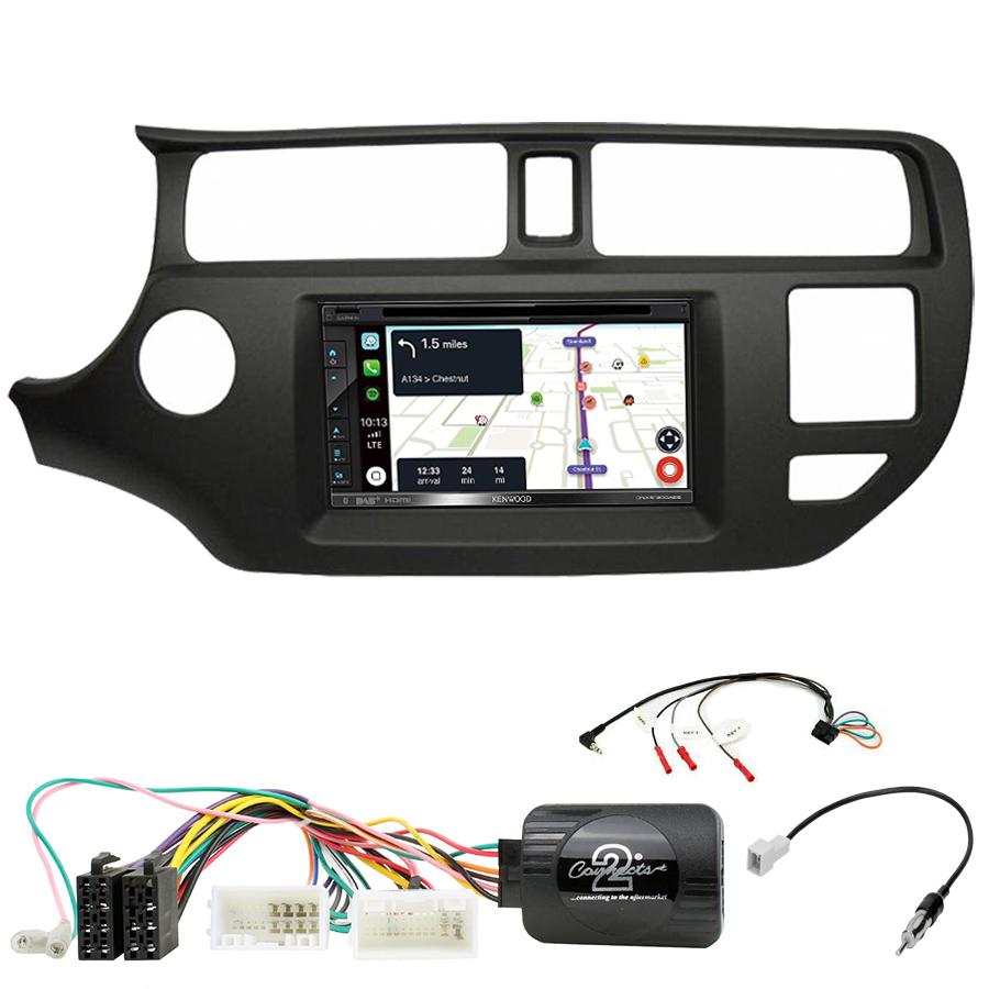 Kit d\'intégration Kia Rio de 9/2011 à 03/2015 + Autoradio tactile Navigation GPS