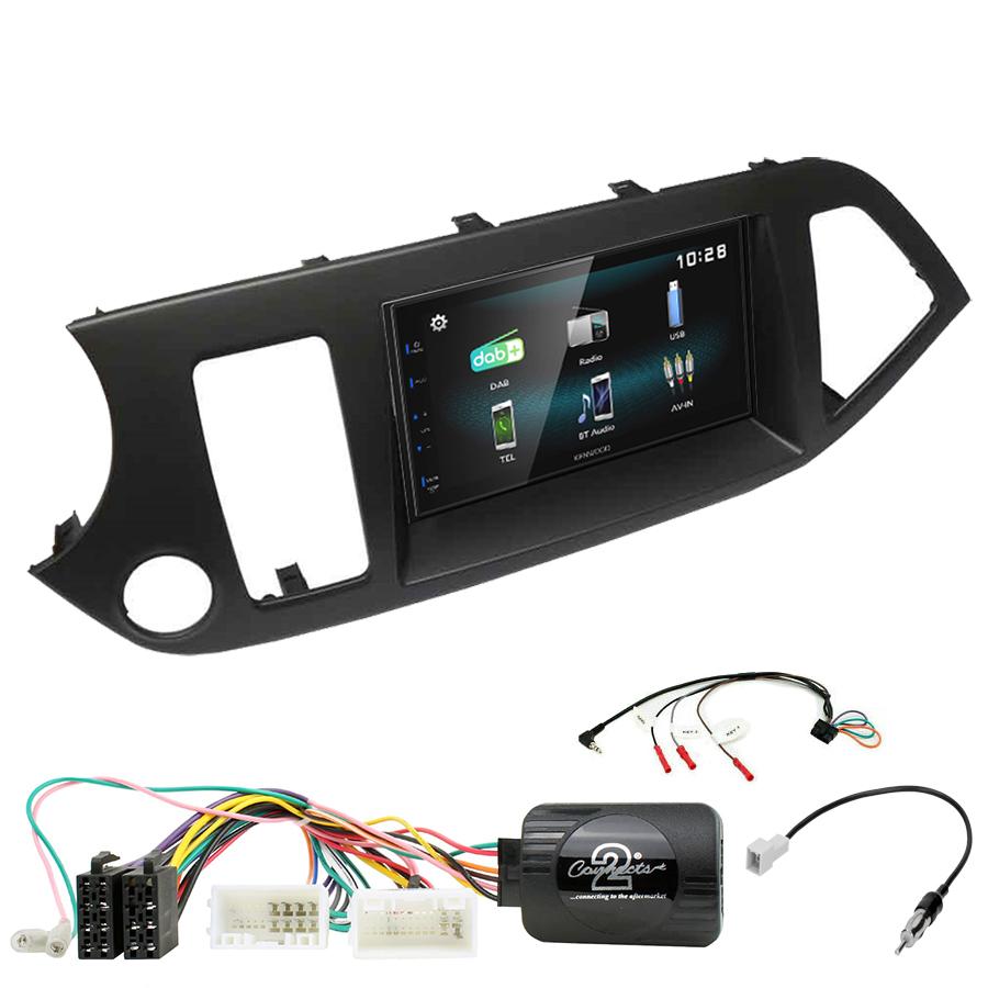 Kit d\'intégration Kia Picanto de 2011 à 2016 + Autoradio multimédia à écran tactile
