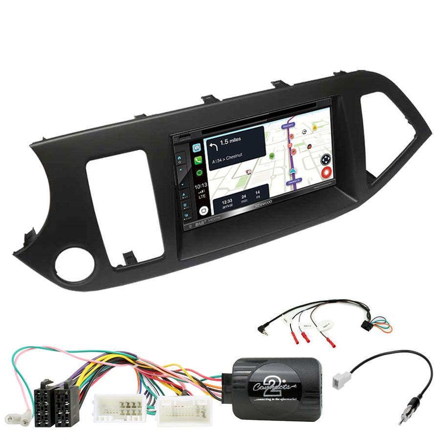 Kit d\'intégration Kia Picanto de 2011 à 2016 + Autoradio tactile Navigation GPS