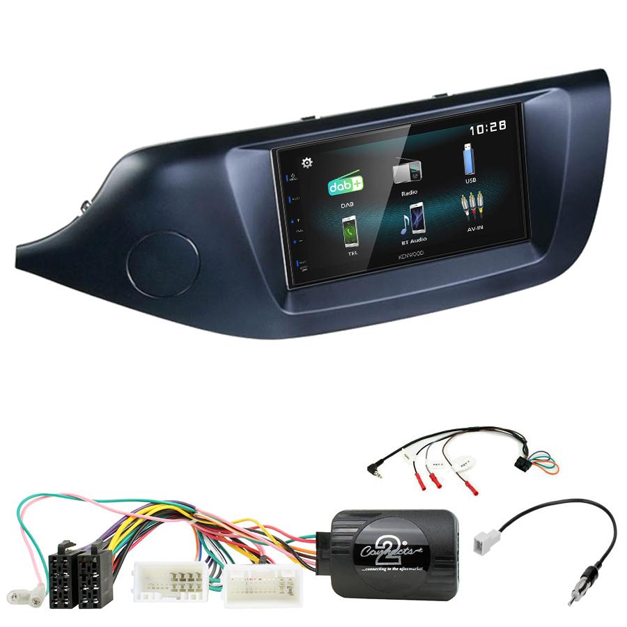 Kit d\'intégration Kia Cee\'d de 2012 à 2018 + Autoradio multimédia à écran tactile