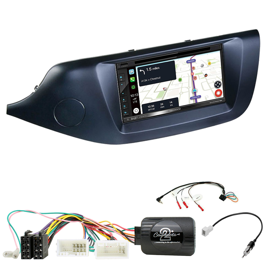 Kit d\'intégration Kia Cee\'d de 2012 à 2018 + Autoradio tactile Navigation GPS