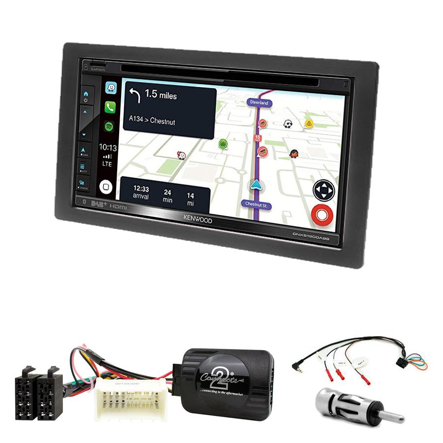 Kit d\'intégration Kia Carens de 2007 à 2010 + Autoradio tactile Navigation GPS