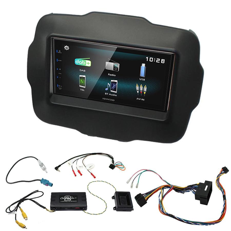 Kit d\'intégration Jeep Renegade de 2015 à 2019 + Autoradio multimédia à écran tactile