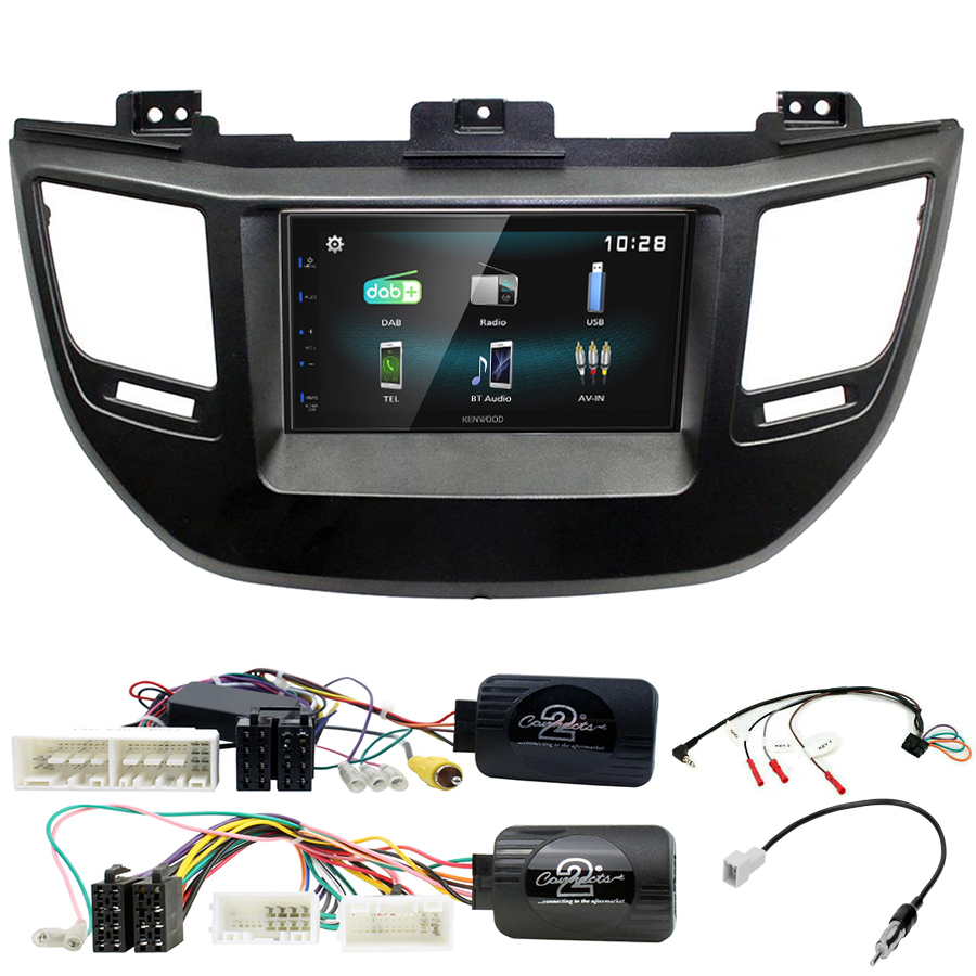 Kit d\'intégration Hyundai Tucson de 2015 à 2018 + Autoradio multimédia à écran tactile