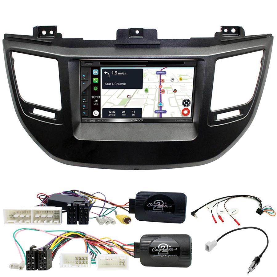 Kit d\'intégration Hyundai Tucson de 2015 à 2018 + Autoradio tactile Navigation GPS