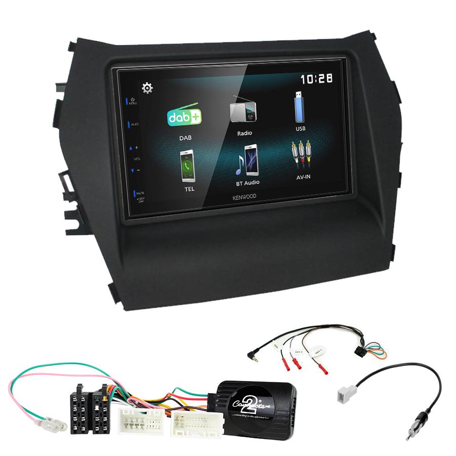 Kit d\'intégration Hyundai Santa Fe de 2013 à 2018 + Autoradio multimédia à écran tactile