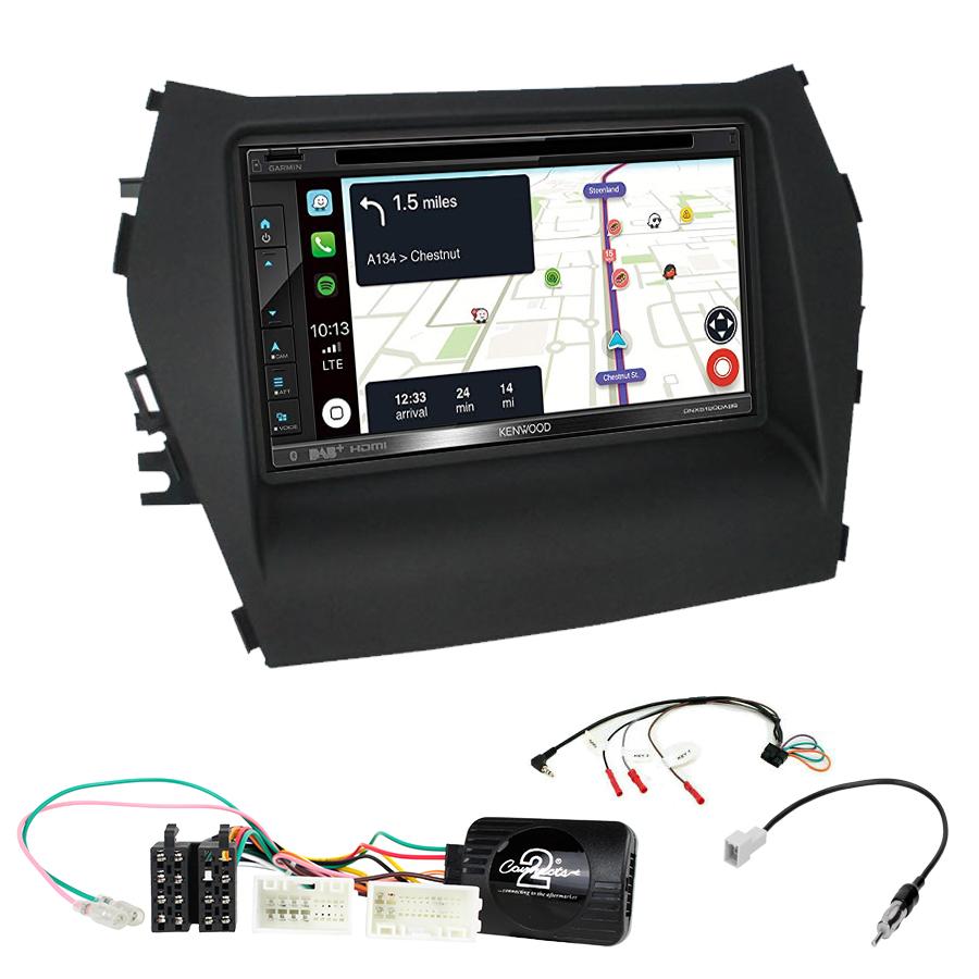 Kit d\'intégration Hyundai Santa Fe de 2013 à 2018 + Autoradio tactile Navigation GPS