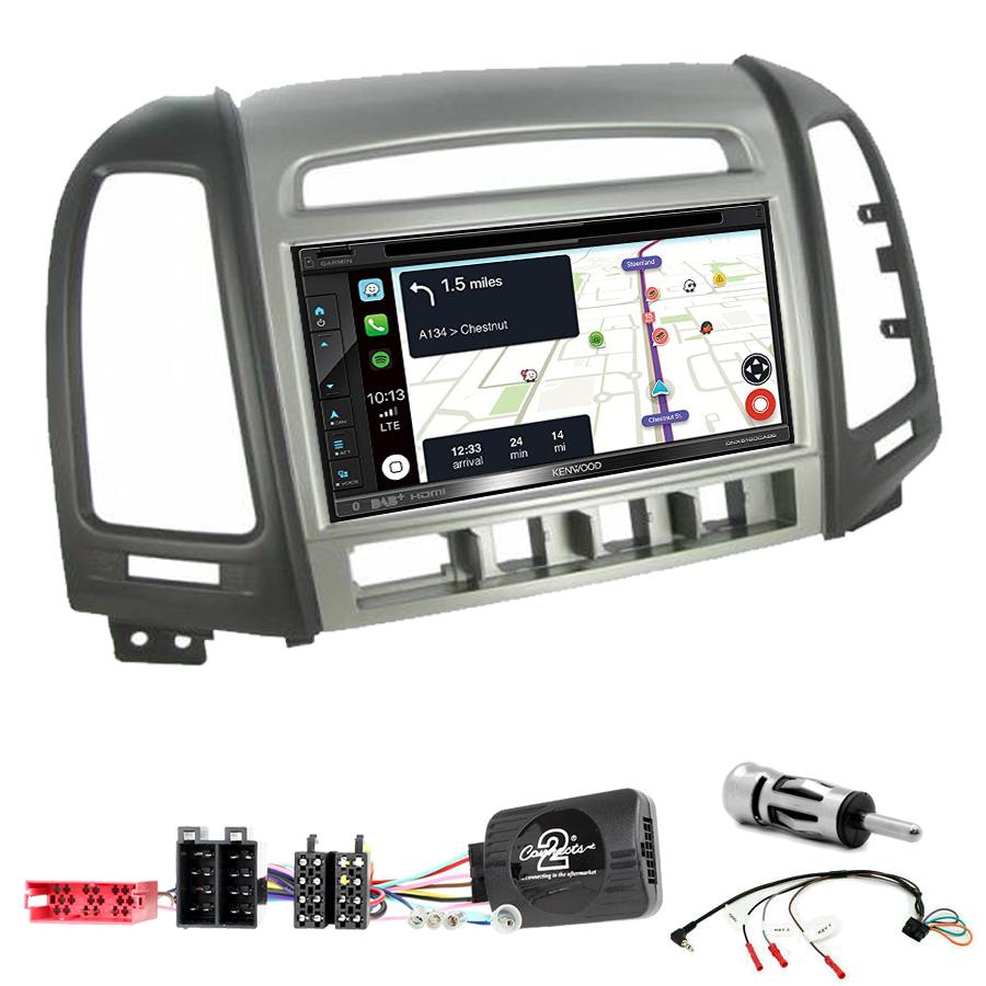 Kit d\'intégration Hyundai Santa Fe de 2006 à 2012 + Autoradio tactile Navigation GPS