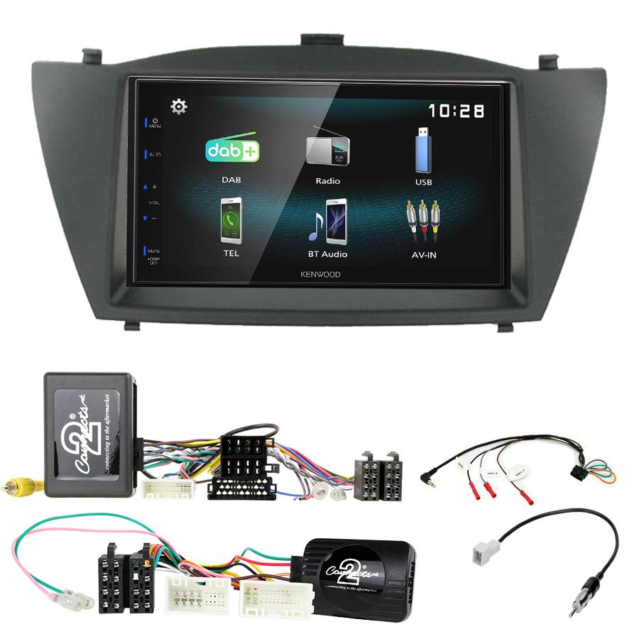 Kit d\'intégration Hyundai IX35 de 2010 à 2015 + Autoradio multimédia à écran tactile