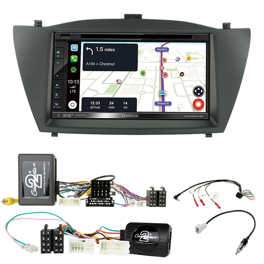 Kit d\'intégration Hyundai IX35 de 2010 à 2015 + Autoradio tactile Navigation GPS