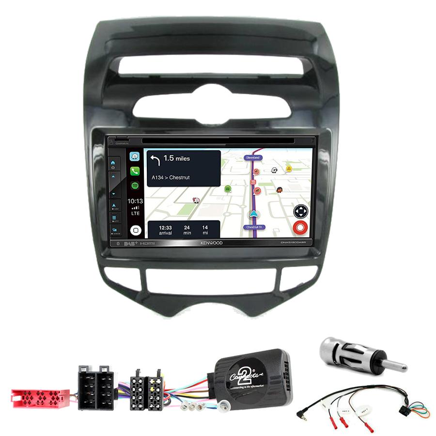 Kit d\'intégration Hyundai IX20 de 2010 à 2015 + Autoradio tactile Navigation GPS