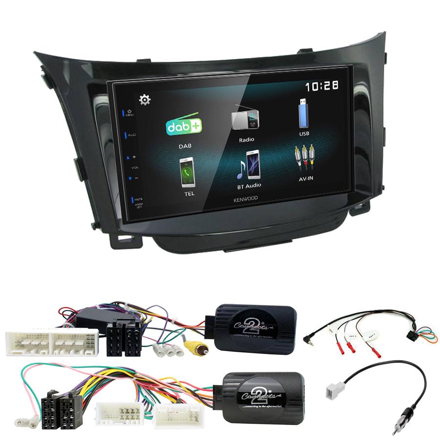 Kit d\'intégration Hyundai i30 de 2012 à 2017 + Autoradio multimédia à écran tactile
