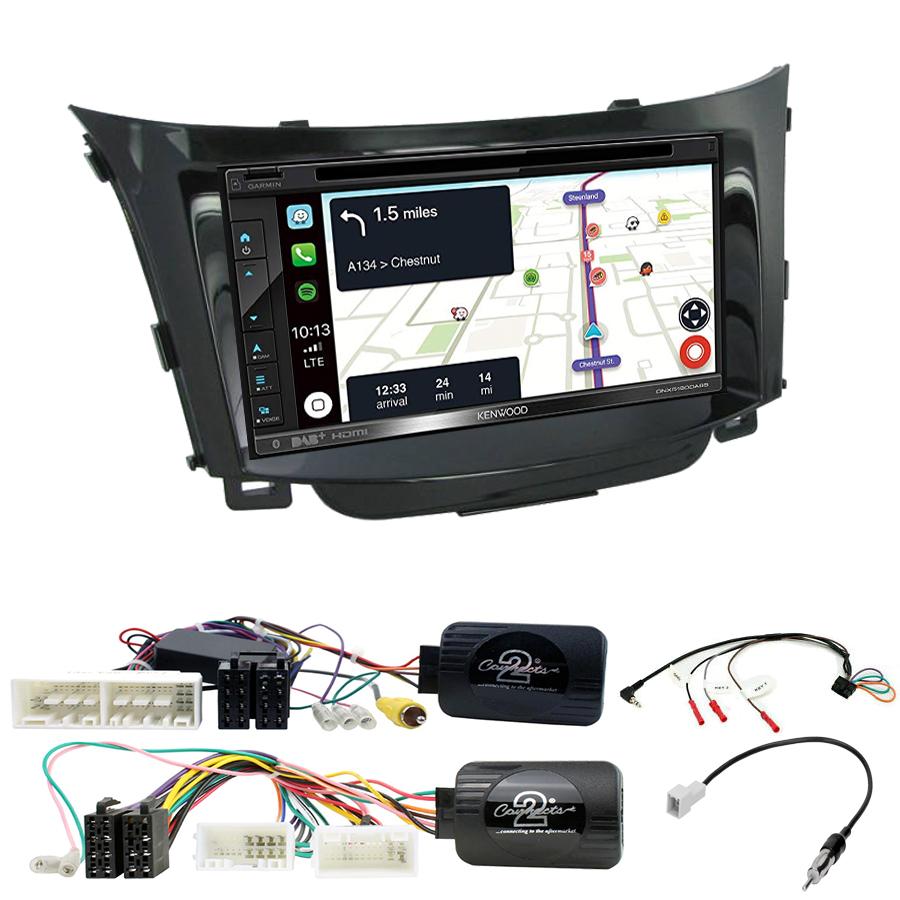 Kit d\'intégration Hyundai i30 de 2012 à 2017 + Autoradio tactile Navigation GPS
