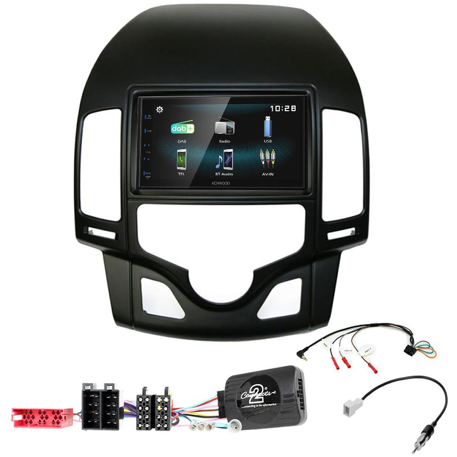 Kit d\'intégration Hyundai i30 de 07/2007 à 02/2012 + Autoradio multimédia à écran tactile