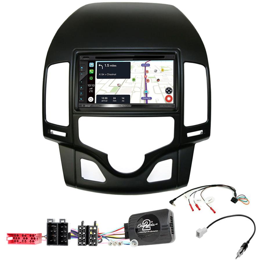 Kit d\'intégration Hyundai i30 de 07/2007 à 02/2012 + Autoradio tactile Navigation GPS