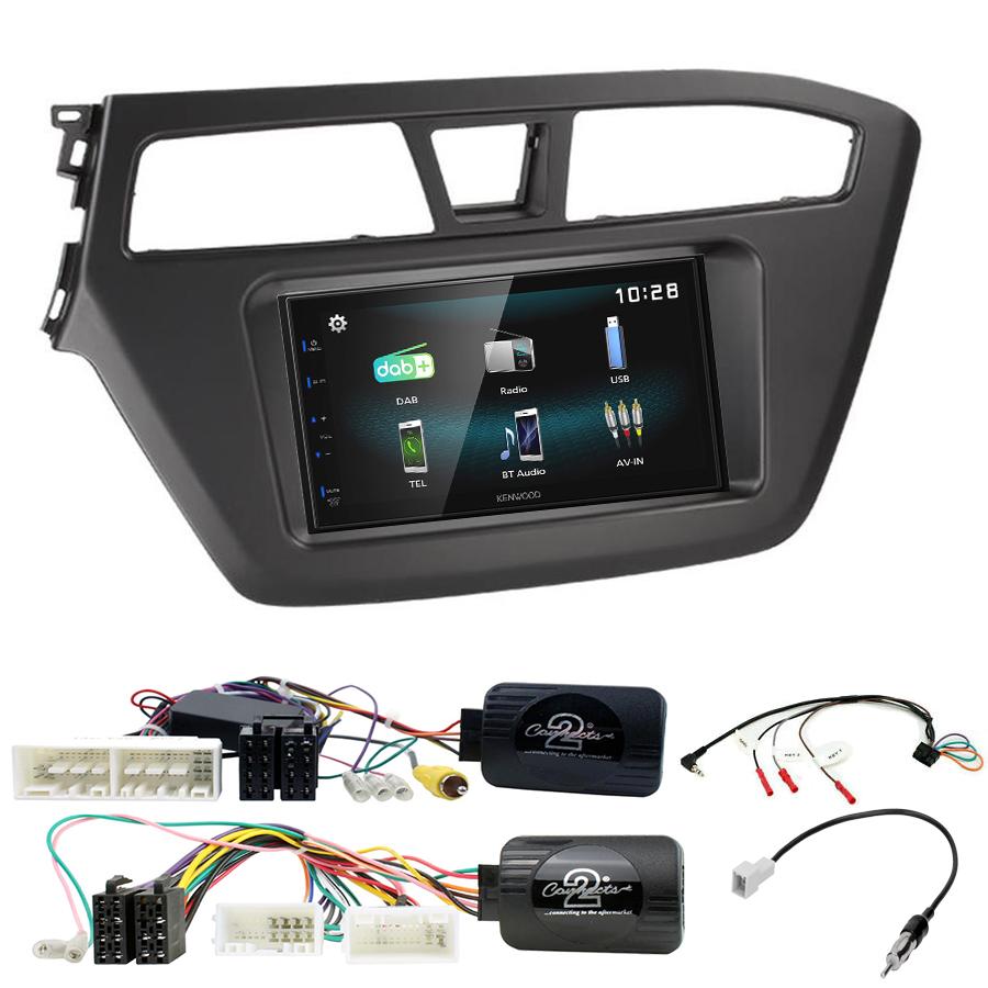 Kit d\'intégration Hyundai i20 de 2015 à 2020 + Autoradio multimédia à écran tactile