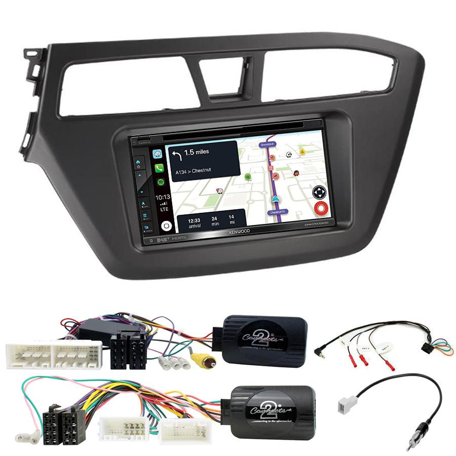 Kit d\'intégration Hyundai i20 de 2015 à 2020 + Autoradio tactile Navigation GPS