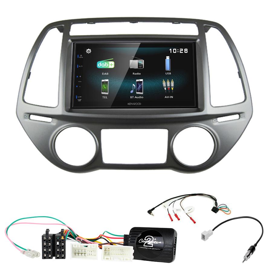 Kit d\'intégration Hyundai i20 de 2012 à 2015 + Autoradio multimédia à écran tactile