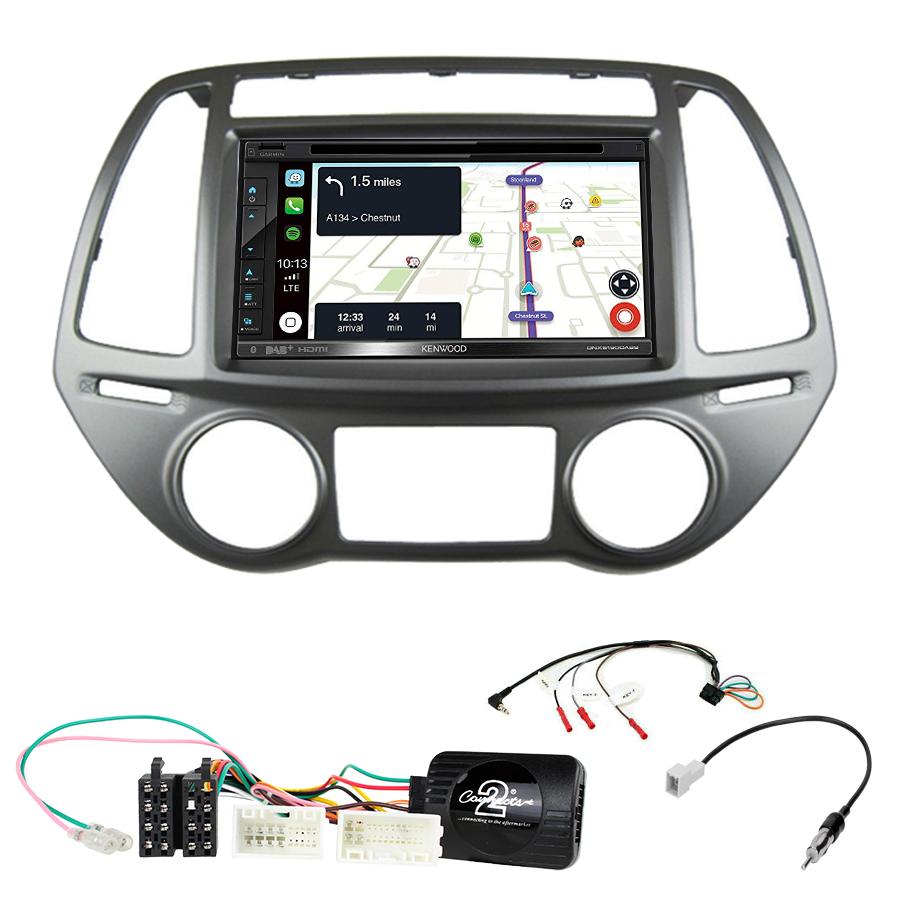 Kit d\'intégration Hyundai i20 de 2012 à 2015 + Autoradio tactile Navigation GPS