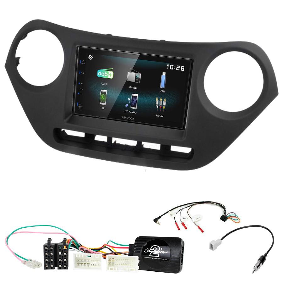 Kit d\'intégration Hyundai i10 de 2014 à 2019 + Autoradio multimédia à écran tactile