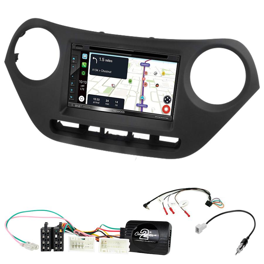 Kit d\'intégration Hyundai i10 de 2014 à 2019 + Autoradio tactile Navigation GPS