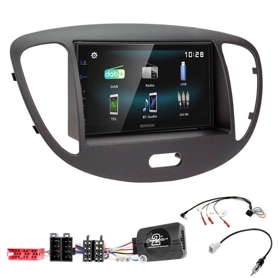 Kit d\'intégration Hyundai i10 de 2008 à 2013 + Autoradio multimédia à écran tactile
