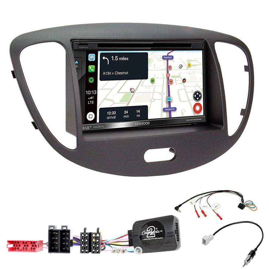 Kit d\'intégration Hyundai i10 de 2008 à 2013 + Autoradio tactile Navigation GPS