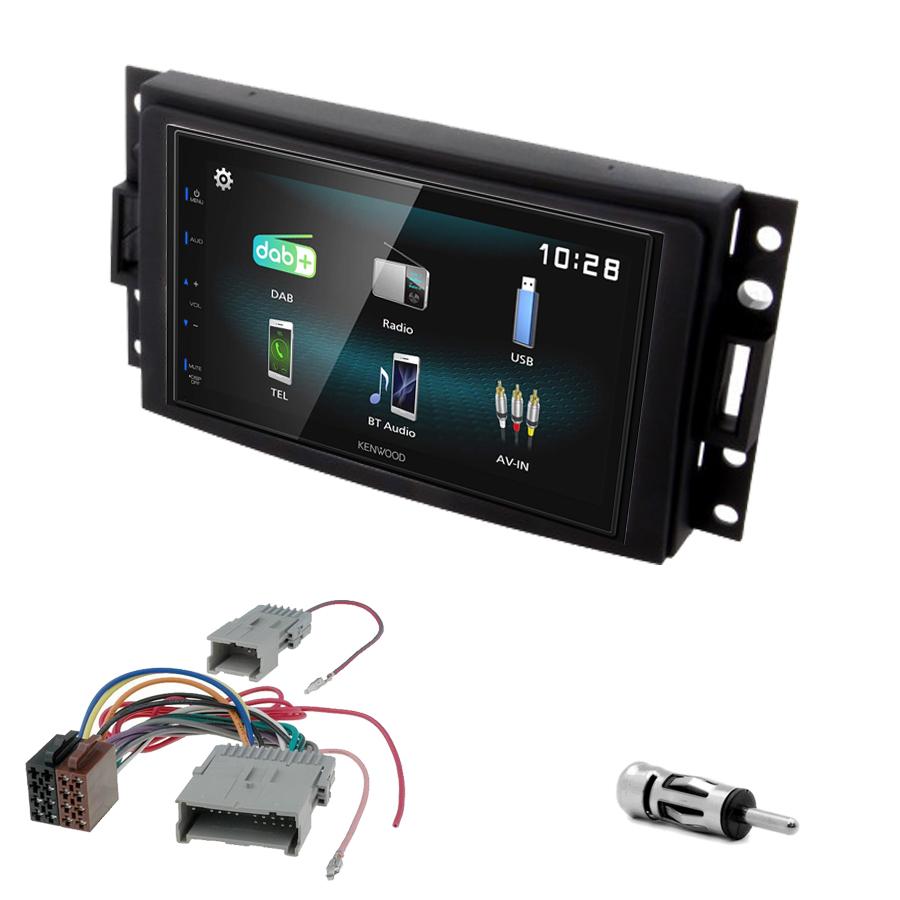 Kit d\'intégration Hummer H3 de 2005 à 2008 + Autoradio multimédia à écran tactile