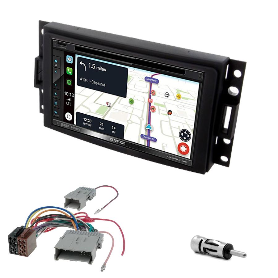 Kit d\'intégration Hummer H3 de 2005 à 2008 + Autoradio tactile Navigation GPS