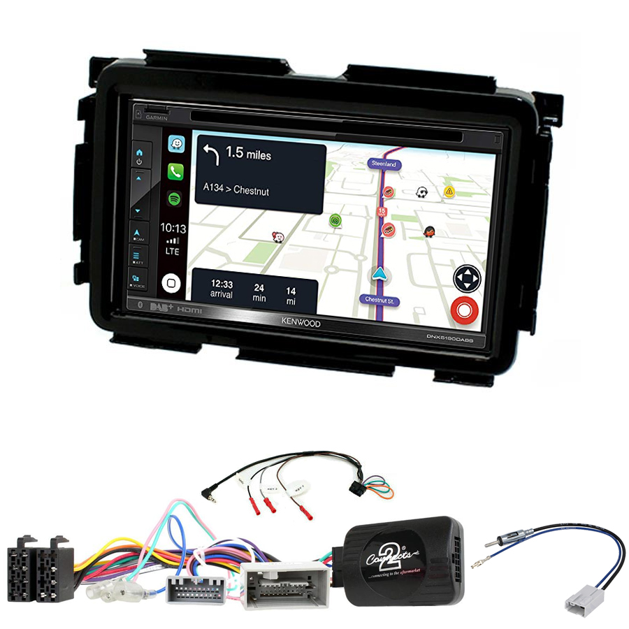Kit d\'intégration Honda HR-V de 2015 à 2018 + Autoradio tactile Navigation GPS