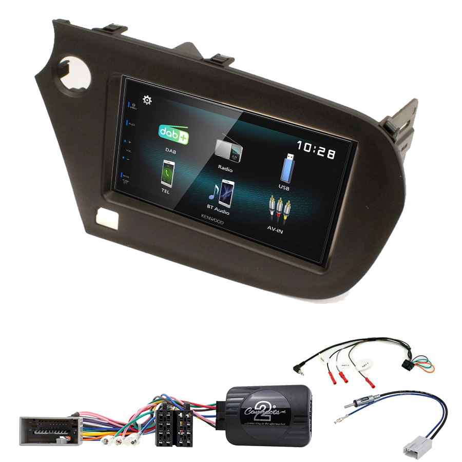 Kit d\'intégration Honda Insight de 2009 à 2014 + Autoradio multimédia à écran tactile