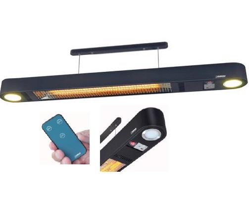 Lustre Infrarouge avec Télécommande 1500W 230V - Réf - CP1500RC