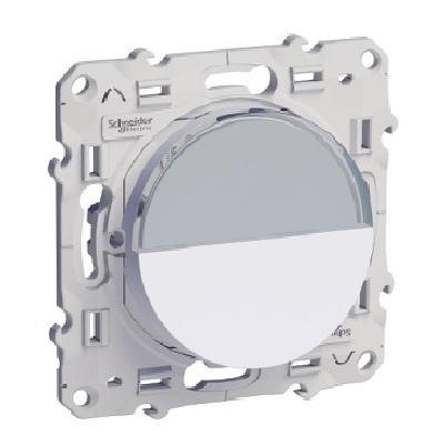 SCHNEIDER ELECTRIC - Bouton Poussoir Porte Etiquette Blanc - Réf - S520266