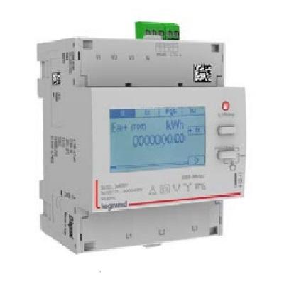 LEGRAND - Compteur modulaire triphasé EMDX³ non MID raccordement TI 5A - 4 modules avec sortie et 1 entrée à impulsions - Réf - 412040
