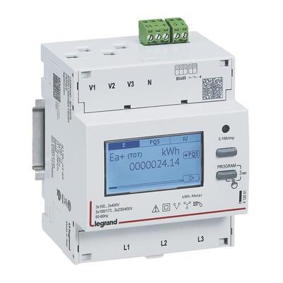 LEGRAND - Compteur modulaire triphasé EMDX³ non MID raccordement TI 5A - 4 modules - avec sortie RS485 - Réf - 412041