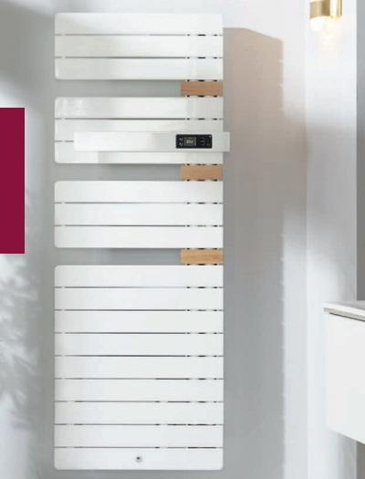 THERMOR - Radiateur sèche serviette - Allure 3 - 1750W - Mat à droite - Avec Soufflerie - Blanc - Réf 483245