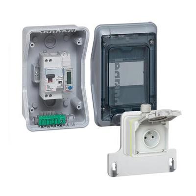 LEGRAND - Kit coffret équipé et pré-câblé avec prise Green\'up Access - Réf - 090481