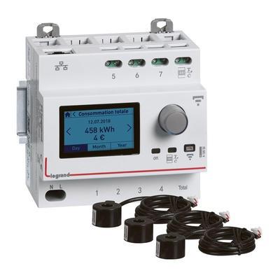 Pack Ecocompteur avec 3 transformateurs de courant fermés 63A - Réf - 412031