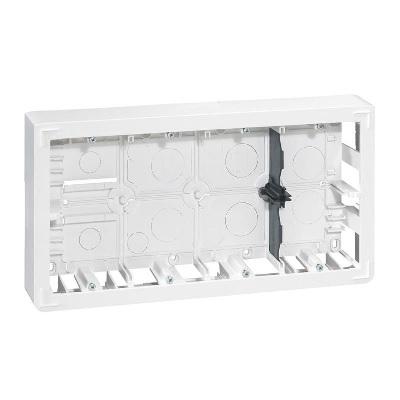 LEGRAND - Cadre saillie Mosaic profondeur 46mm pour 2x10 modules et support - Réf - 080278