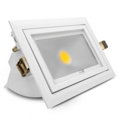 MIIDEX - Spot LED Rectangulaire Orientable - 30W - 3000°K - Réf - 7690